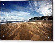 Chasing Sand Acrylic Print by Svetlana Sewell