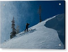 Chasing The Myth Of Sysiphus Acrylic Print by Robert Fullerton