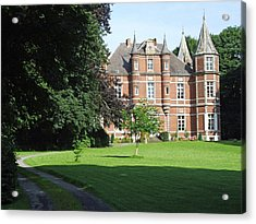 Acrylic Print featuring the photograph Chateau De Miremont Belgium by Joseph Hendrix