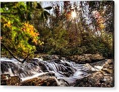 Chauga Narrows Waterfall Acrylic Print