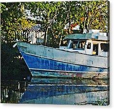 Chauvin La Blue Bayou Boat Acrylic Print