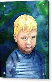 Acrylic Print featuring the painting Chayton by Sharon Mick