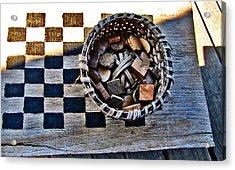 Checkers Acrylic Print by Elisia Cosentino