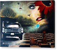 Checkmate Acrylic Print by Andrea Banjac
