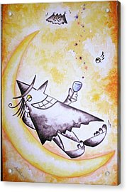 Cheer Up With Stars  Acrylic Print by Asida Cheng