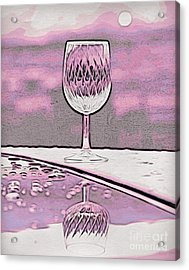 Cheers On Icy Snow Acrylic Print by Phyllis Kaltenbach