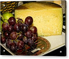 Cheese And Grapes Acrylic Print