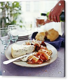 Cheese And Ham Meal Acrylic Print by David Munns