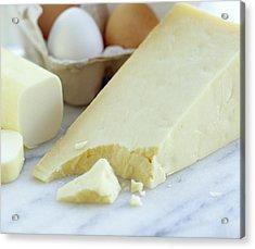 Cheeses And Eggs Acrylic Print by David Munns