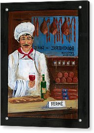 Chef At Days End Acrylic Print by Marilyn Dunlap