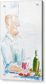 Chef In Action Acrylic Print by Pat Katz