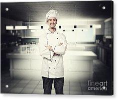 Chef Portrait Acrylic Print