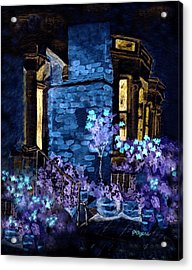 Chelsea Row At Night Acrylic Print by Paula Ayers