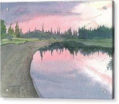 Chena River Sunset - 1 Acrylic Print