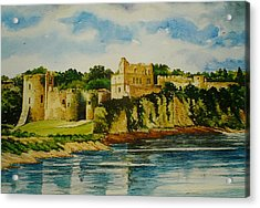 Chepstow Castle  Wales Acrylic Print by Andrew Read