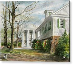 Acrylic Print featuring the painting Cheraw Town Hall by Gloria Turner