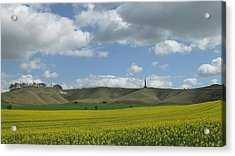 Cherhill White Horse Acrylic Print by Michael Standen Smith
