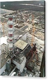 Chernobyl Reactor Clear-up Acrylic Print by Ria Novosti