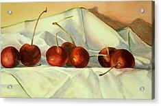 Acrylic Print featuring the painting Cherries Jubilee by Vikki Bouffard