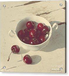 Cherries Still Life  Acrylic Print by Svetlana Novikova