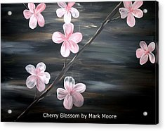 Cherry Blossom By Mark Moore Acrylic Print by Mark Moore