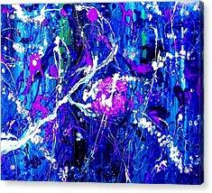 Cherry Blossom Explosion Acrylic Print by Michelle Dallocchio
