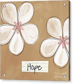 Cherry Blossom Hope Acrylic Print