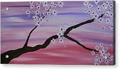Cherry Blossoms At Sunrise Acrylic Print by Heather  Hubb