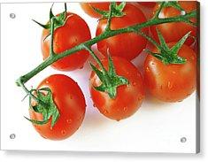 Cherry Tomatoes Acrylic Print by Carlos Caetano