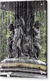 Cherub Bethesda Fountain  Acrylic Print by Sarah McKoy