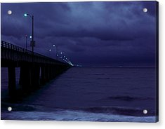 Chesapeake Bay Bridge-tunnel, Night Acrylic Print