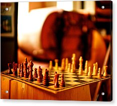 Chess Acrylic Print by Andre Faubert