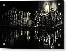 Chess By Candlelight Acrylic Print