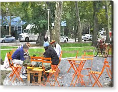 Chess Players In Clark Park Acrylic Print
