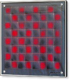 Chessboard 1982 Acrylic Print by Glenn Bautista