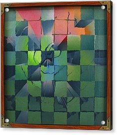 Chesscape 1975 Acrylic Print by Glenn Bautista