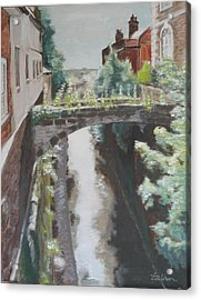 Chester Canal Acrylic Print by Veronica Coulston