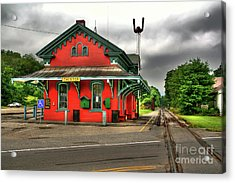 Chester Station Acrylic Print by Adrian LaRoque