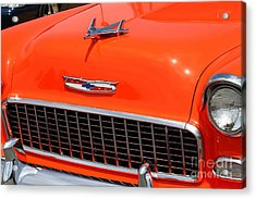 Chevrolet Bel-air Stationwagon . Orange . 7d15269 Acrylic Print by Wingsdomain Art and Photography