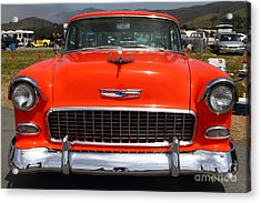 Chevrolet Bel-air Stationwagon . Orange . 7d15270 Acrylic Print by Wingsdomain Art and Photography
