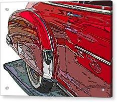 Chevrolet Fleetline Deluxe Rear Wheel Study Acrylic Print by Samuel Sheats