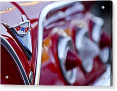 Chevrolet Impala Emblem Acrylic Print by Jill Reger