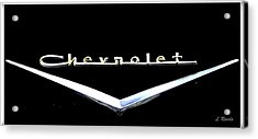Chevrolet Logo Acrylic Print by Leslie Revels