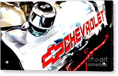 Acrylic Print featuring the digital art Chevy Power by Tony Cooper