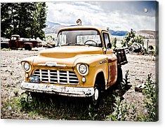 Chevy Taxi Cab  Acrylic Print by Sheri Van Wert
