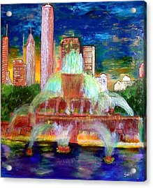 Chicacgo Buckingham Fountain Acrylic Print by Char Swift