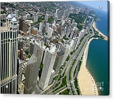 Chicago Aerial View Acrylic Print by Sophie Vigneault
