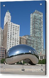 Chicago Bean Acrylic Print by Wendy Jackson