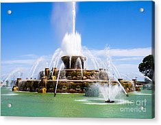 Chicago Buckingham Fountain Acrylic Print by Paul Velgos