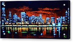 Chicago By Black Light Acrylic Print